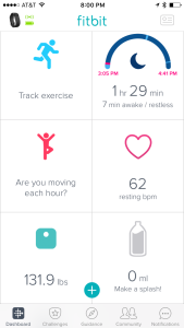 fitbit screen shot