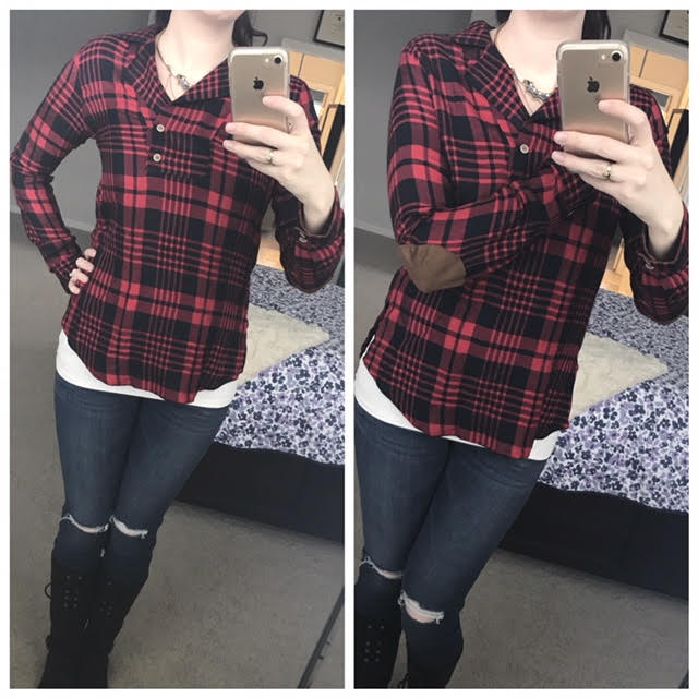 sf plaid top