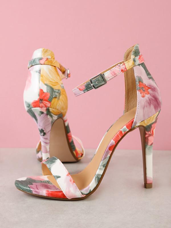 shein floral heels