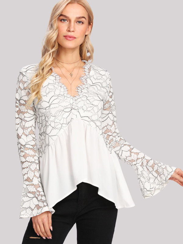 shein floral lace top